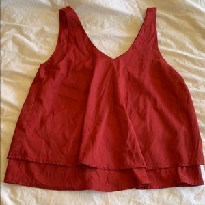 Hollister red tank top